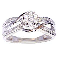 0.5ct Bridal Wedding Ring 10K White Gold 8mm Wide Swirl Rings-MidwestJewellery.com http://www.amazon.com/dp/B00QK074HQ/ref=cm_sw_r_pi_dp_76jGub1YHFZBB