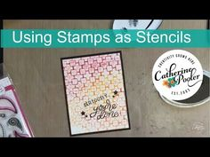Using Stencils as Stamps  - Brick Wall with Graffiti Style Sentiments