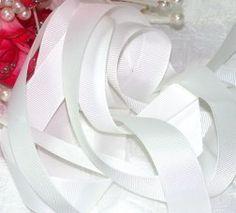 Fita de gorgurão Importada Branca 38mm × 10m - Expessura mais fina!