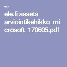 ele.fi assets arviointikehikko_microsoft_170605.pdf Microsoft, Pdf