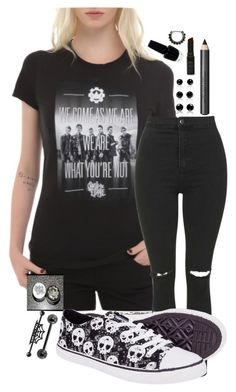 """Crown the Empire"" by ticci-toby ❤ liked on Polyvore featuring Topshop, Burberry and OPI"