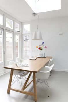 For many people, small apartment living is an interesting, dreamy concept. Living in a small space has its advantages and disadvantages, of course – . Decor, Furniture, House Design, Interior, Home, Colorful Table, Modern Dining Room, Apartment Decor, Home Deco