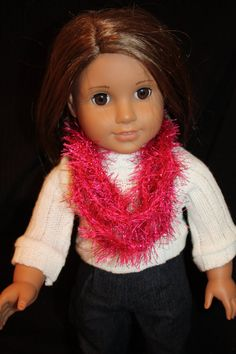 18 Doll Pink Shiny Floss Infinity Inspired by littleladiesthings, $5.00