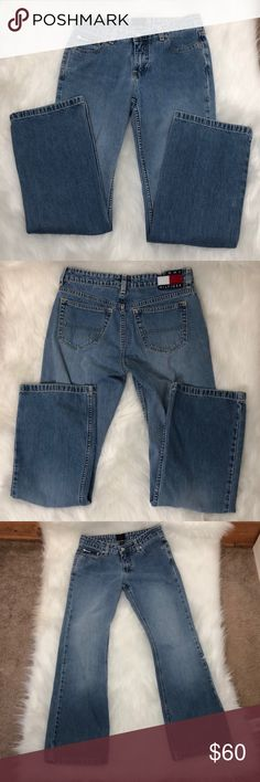 Tommy Hilfiger Jean Size 7 Description: Looks brand new.  ⚠️I always look through each item throughly once received and right before shipping, but things can be missed. Just let me know, so I can improve.⚠️  🚫NO TRADES/NO HOLDS🚫  Please ask questions❓  💜Thank you for checking out my closet and don't be afraid to submit an offer💜 Tommy Hilfiger Jeans Flare & Wide Leg