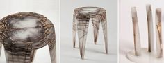 Wiktoria Szawiel #resin #natural #fibres #furniture #design #landscape