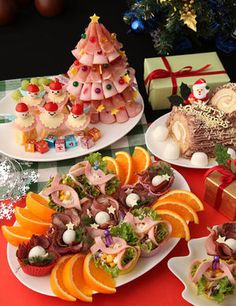 Party Dishes, Party Finger Foods, Christmas Snacks, Food Decoration, Appetisers, Japanese Food, Food Art, Food And Drink, Yummy Food
