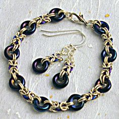 Chainmail jewellery set