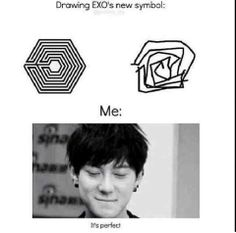 Drawing EXO's new symbol
