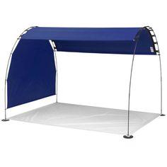 New Outdoor Cabana Shade Lightweight Navy Canopy UV Protection Solar Tent + Bag