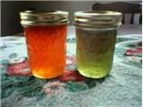 Hot Pepper Jelly: delicious on a cracker with cream cheese!