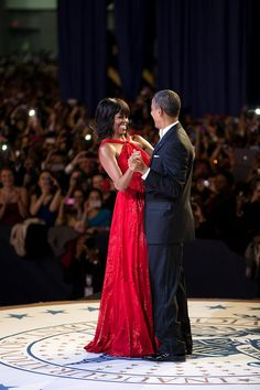 President Barack Obama With 1st Lady Michelle Obama...