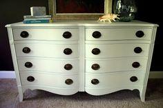 I'm Busy Procrastinating: Bedroom update: Painted dresser