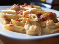 Cheddar Bacon Ranch Chicken Pasta- One pinner said...I just made this and then had to fight my husband and kids for seconds. Needless to say, there were no leftovers. I will definitely be making this again.