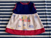 Kinderkleid aus Baumwolle - Größe 68 -bunt