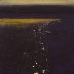 Ørnulf Opdahl: Mellom dag og natt, 80 x 80 cm Abstract Landscape, Abstract Art, Dark Pictures, Nocturne, Oslo, Painting Inspiration, Mystic, The Darkest, Scandinavian