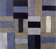"""Night,"" by Sean Scully, oil on canvas, 84 by 96 inches, 2003- awesome #graphic take on #stripes"