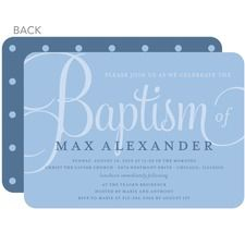 Fashionable Fonts: Blue Baptism Invitations