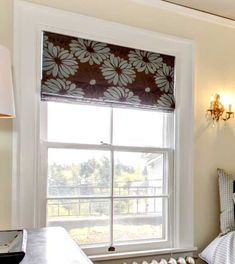 Brown And Blue Roman Shades Bedroom Valances For Wide Windows Tips From A Workroom