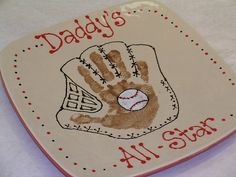 Handprint Plate Father's Day