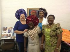 September 2013 General Meeting: Miss Kenny provided a most entertaining presentation on African Headgear. Everyone had a fun afternoon - Thank You Yemi and Princess!