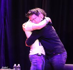 "bristlee1:  ""HUG ME JACK"" ""NO, GET AWAY"" ""Dammit"" You just know that Jack is whispering, ""Dammit you're only feeding the shippers"" PAX Prime 2015, Markiplier and Friends Panel  (Please do not repost or edit out watermarks. Please contact to edit. Thank you)"
