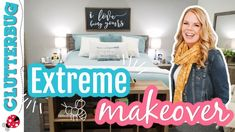 Extreme Bedroom Makeover   Advice Series 🐝 - YouTube Extreme Makeover, Declutter, Organize, Easy Projects, Clean Up, Home Organization, Master Bedroom, Toddler Bed, Advice