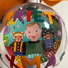 Painty hand painted Christmas bauble with name - choose your colours Personalised Bauble, Personalised Christmas Baubles, Christmas 2019, Christmas Gifts, Colorful Christmas Tree, Color Mixing, Snow Globes, Hand Painted, Colours
