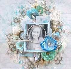 Layout made with Lemoncraft papers and 2Crafty chipboard