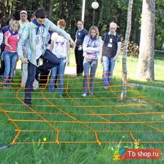 Упражнение для организации тимбилдинга ПАУТИНА ГОРИЗОНТАЛЬНАЯ 2,4х4 м.