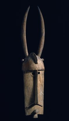 "Bobo blacksmith's molo mask, 64"" h. (Gift to the Metropolitan Museum of Art by Thomas G. B. Wheelock Collection )"