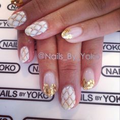 Quilted nail art design