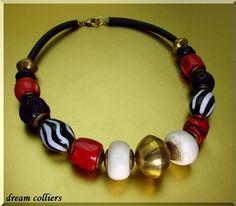 modernes Afrika - Traumcollier von Dream-Colliers auf DaWanda.com