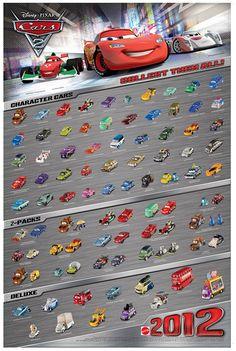 Mattel Disney Pixar CARS 2 Diecast: New International Poster ...