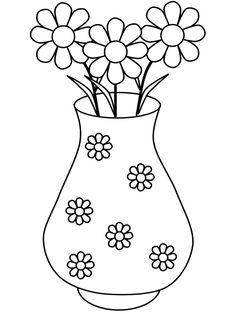 flower vase template2 craft templates pinterest flower vases