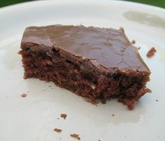Chocolate Texas Sheet Cake  My mom made this when I was growing up and it is awesome!