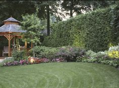 the landscaping is as important as the gazebo itself!