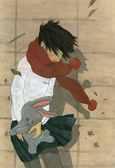 """Taiyo Matsumoto"" - ...hold on to your rabbit! The winds blow cold and increasingly divisive, for a girl and her friend..."