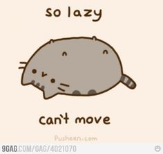 Pusheen being Pusheen