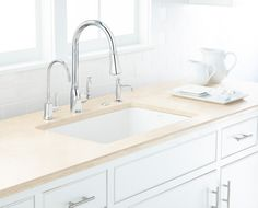 """ROHL Water Appliance. ROHL makes an interesting observation that resonates with me. The company claims it's an age of """"appliance lust"""" where we spend thousands of dollars on high-end range ovens, refrigerators and dishwashers yet the most used kitchen appliance is the sink/faucet center. So let's reframe our thinking and demand more functionality from our sink/faucet such as integrated disposer buttons, instant hot water dispensers, and/or water filtration. www.rohlhome.com"""