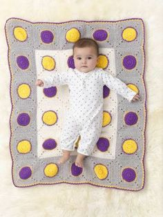 Free Pattern – Spotty Baby Blanket | Crochet | CraftGossip | Bloglovin'