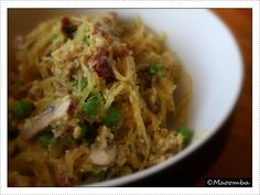 Spaghetti squash carbonera (Gluten Free)