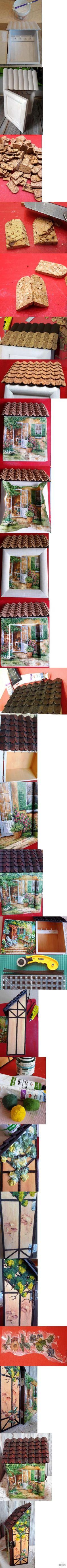 Декупаж - Сайт любителей декупажа - DCPG.RU | Ключница в стиле фахверк Click on photo to see more! Нажмите на фото чтобы увидеть больше! decoupage art craft handmade home decor DIY do it yourself tutorial Materials and techniques: napkin varnish acrylic paint etc.