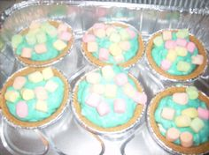 """Marshmallow Mermaid Pie from """"Waitress."""" I LOVE the movie """"Waitress."""" :D"""