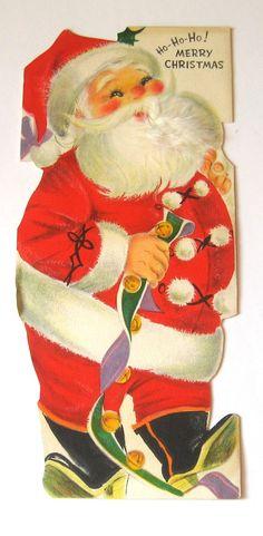 Hallmark Vintage  Christmas Card  Ho Ho Ho