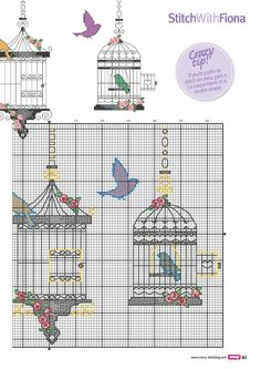 Flutter and Fly 4 of 4 Free Cross Stitch Charts, Cross Stitch Pillow, Cross Stitch Love, Cross Stitch Animals, Cross Stitch Designs, Diy Embroidery, Cross Stitch Embroidery, Loom Patterns, Cross Stitch Patterns