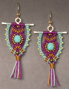 Micro-Macrame Jewelry kit  owl earrings  Babcock