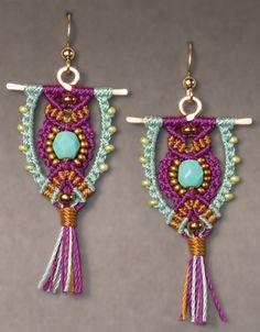 Micro-Macrame Jewelry kit  owl earrings  Babcock