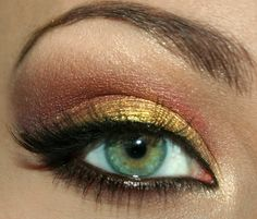 Great idea for hazel eyes