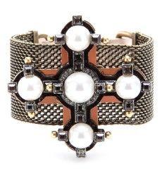 Lanvin - MESH-cuff with cross - mytheresa.com