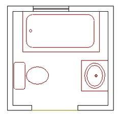 Small Bathroom 4 X 7 small powder room floor plans |  6x9 size/small bathroom floor